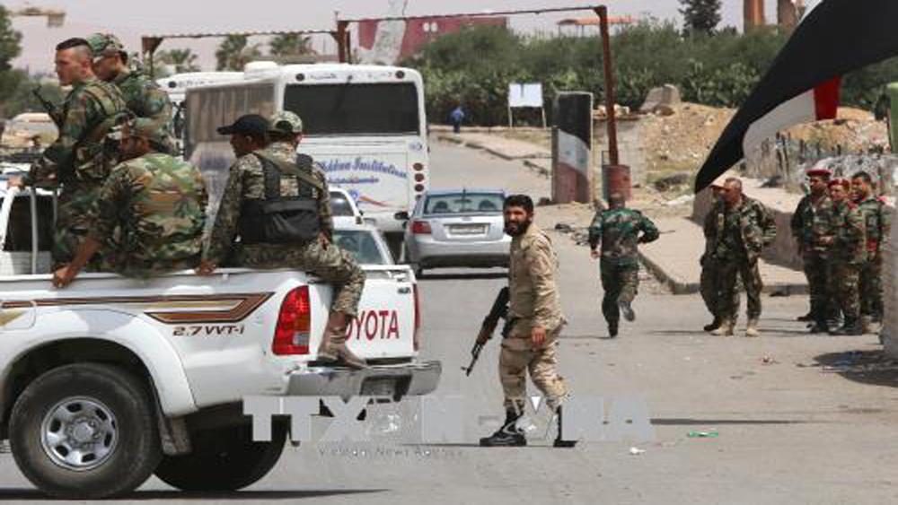 Syria, sơ tán, cơ sở, quân sự, Damascus