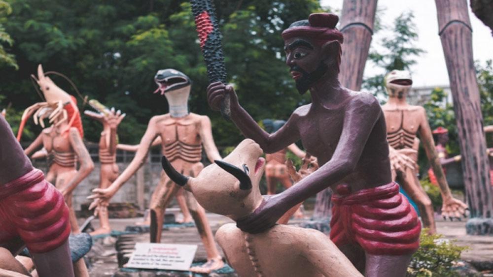 Khu vườn, địa ngục, Thái Lan, hút khách du lịch