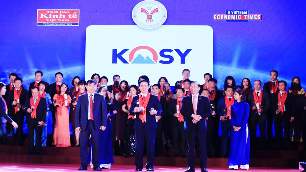 Tập đoàn Kosy, giải thưởng, thương hiệu mạnh Việt Nam, dự án bất động sản