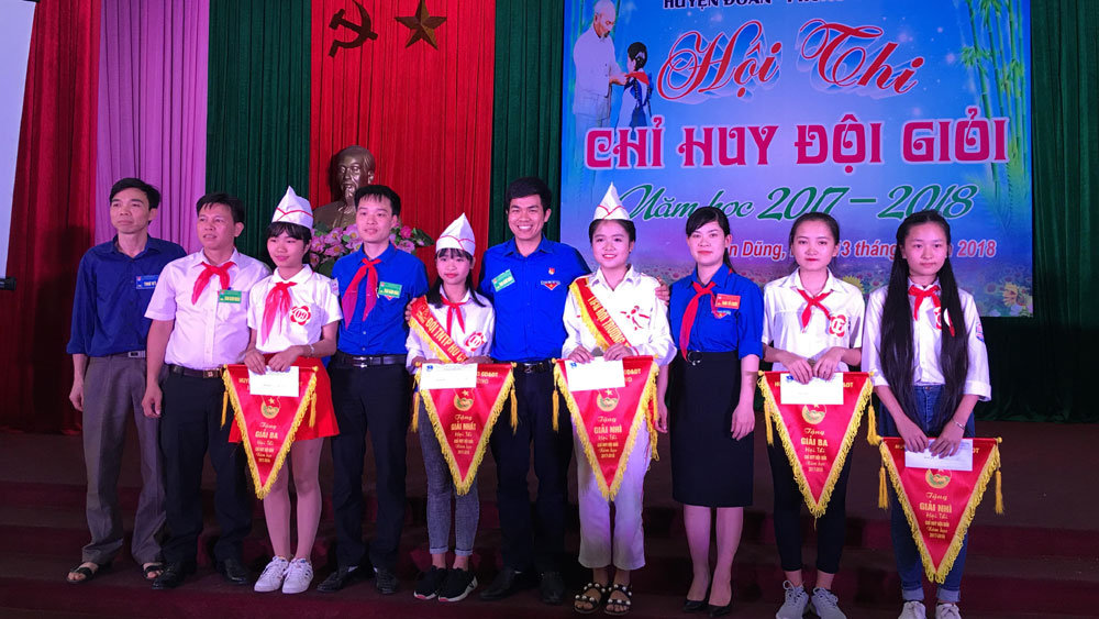 Yên Dũng, hội thi, chỉ huy đội giỏi, năm học 2017-2018