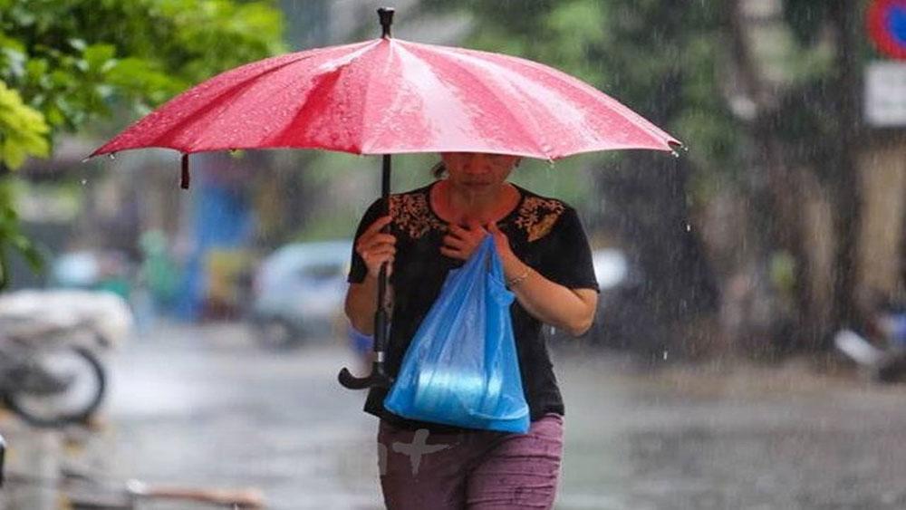 Đông Bắc Bộ và Thủ đô Hà Nội có mưa rào trong ngày hôm nay