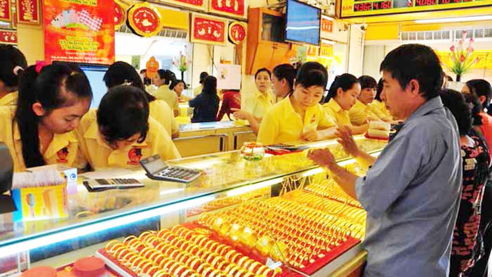 Giá vàng SJC trong nước đồng loạt đi xuống phiên mở cửa đầu tuần