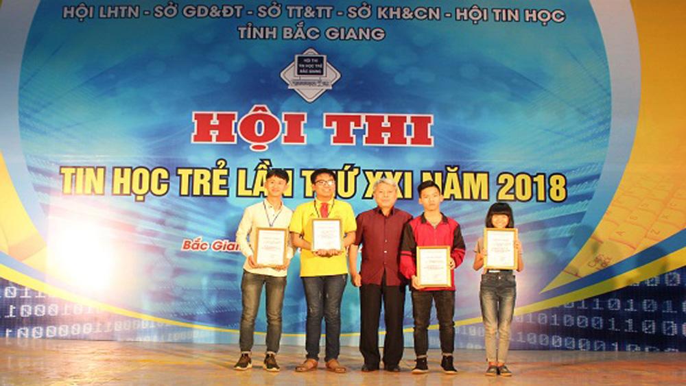 Yên Thế, Bắc Giang, thi tin học trẻ, năm 2018