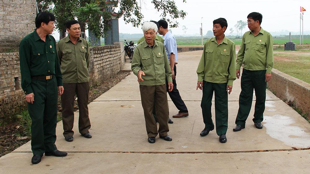 Cựu chiến binh đồng lòng xây dựng nông thôn mới