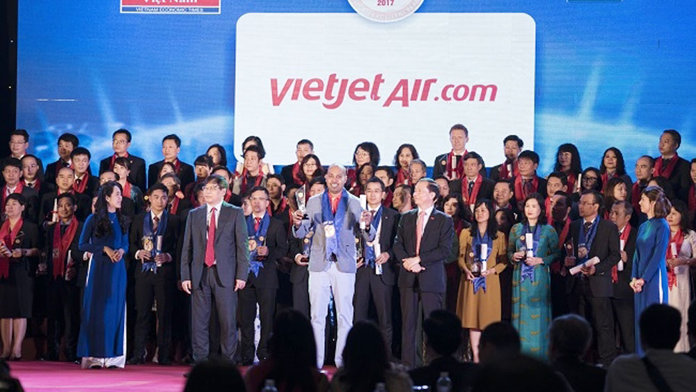 Vietjet among Top 10 Vietnam Excellent Brands in 2017