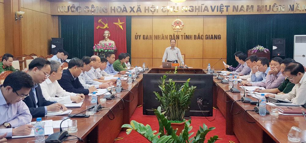 Phó Chủ tịch Thường trực UBND tỉnh Lại Thanh Sơn kết luận hội nghị.