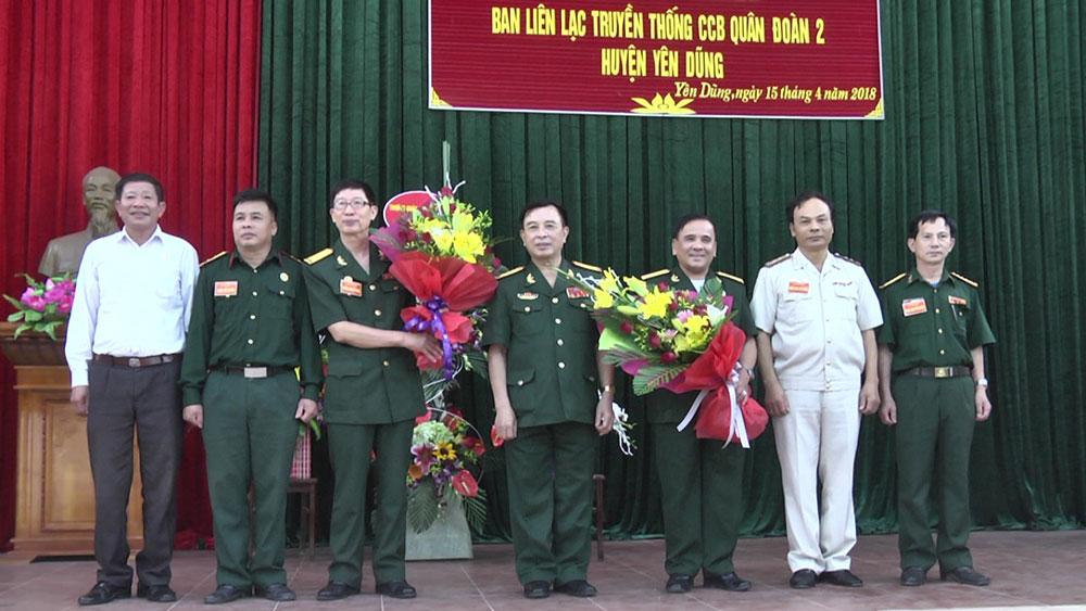 Ra mắt Ban liên lạc truyền thống cựu chiến binh Quân đoàn 2 huyện Yên Dũng