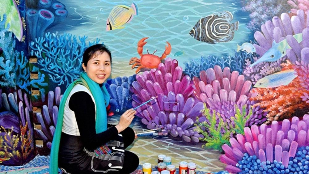 Vietnamese artist,  Nguyen Thu Thuy, silver medal, International Design Awards, silver trophy, A'Design Awards, Public Arts Design, Hanoi project, Ceramic Mosaic Mirror House