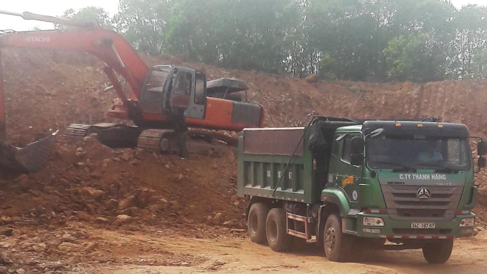 Xử lý hoạt động khai thác, vận chuyển khoáng sản trái phép tại xã Đan Hội