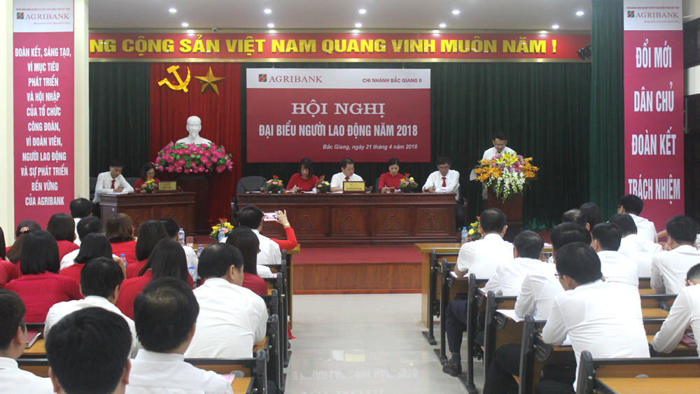 Hội nghị đại biểu người lao động Ngân hàng Nông nghiệp và PTNT Chi nhánh Bắc Giang II