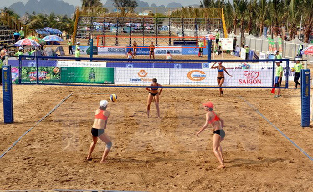 Asian Championship, Women Beach Volleyball,  kicked off, Can Tho province, four-day event, total prize money,  point-scoring system