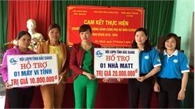 Hội Liên hiệp Phụ nữ tỉnh cam kết đồng hành cùng phụ nữ biên cương