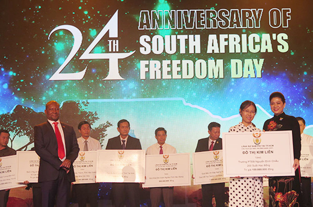 South Africa, Freedom Day, HCM City, founding anniversary, diplomatic ties, developing relations, multifaceted cooperation, bilateral collaboration, trade promotion activities