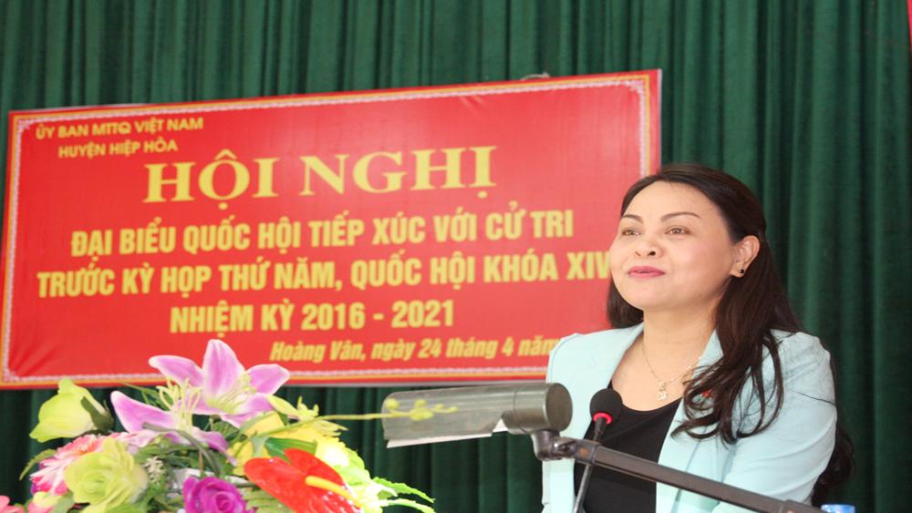 Đoàn đại biểu Quốc hội tỉnh Bắc Giang tiếp xúc cử tri huyện Hiệp Hòa