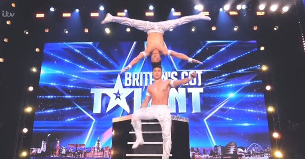 Vietnamese Giang bro, world record-breaking, circus artists, UK talent show, head-to-head balancing stunt, Strength of Hands