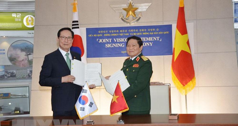 Vietnam, RoK, joint vision statement, defence cooperation, practical manner, effective collaboration, fastest growing economies, large population, stable development