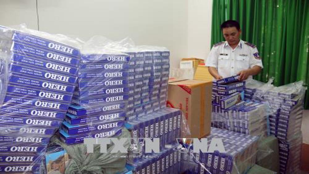 Thuốc lá ngoại nhập lậu sẽ được đấu giá để xuất khẩu