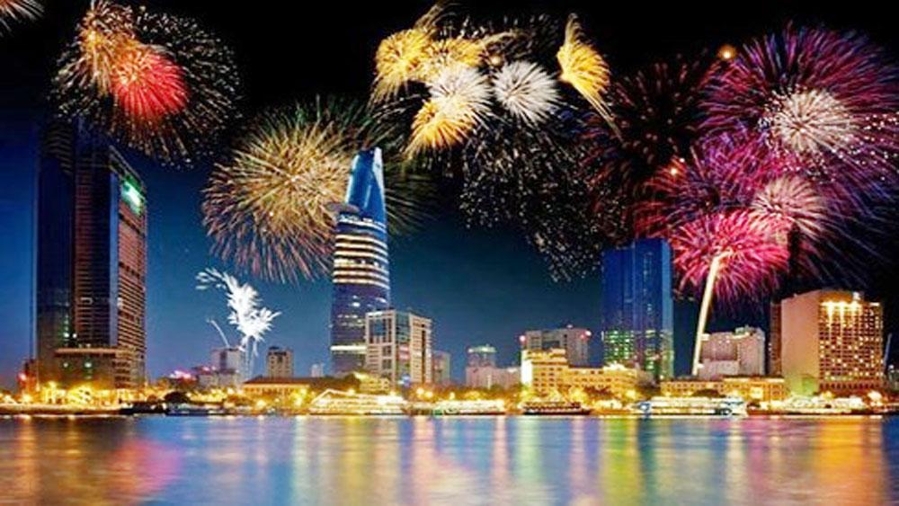 TP Hồ Chí Minh, bắn pháo hoa, kỷ niệm, 43 năm, ngày chiến thắng 30-4