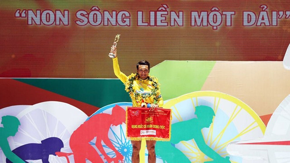 Nguyen Thanh Tam wins yellow jersey in trans-nation cycling tour