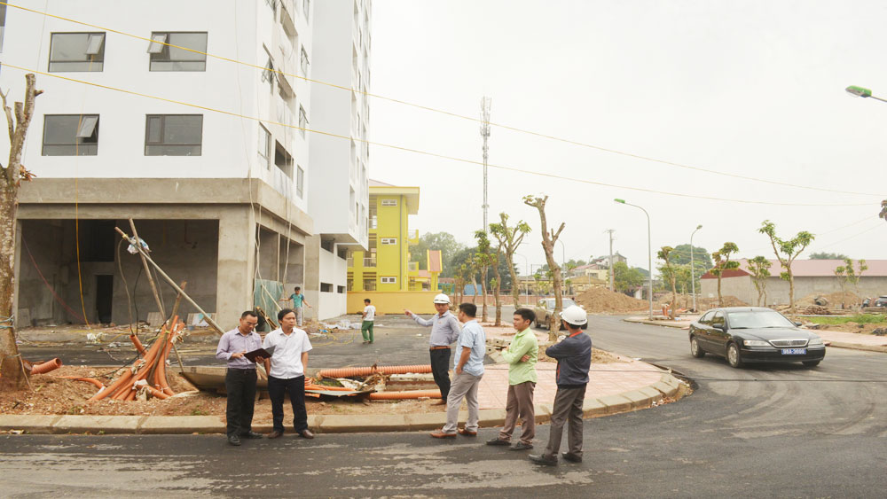 Bac Giang city, new urban area, urban projects, Bac Giang province, residential areas, total land area, investment rate, real estate market, positive results,  adequate light system, infrastructure construction