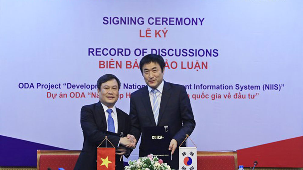 RoK , Vietnam, investment information system, non-refundable aid, ministry's capacity, national database, investment licenses
