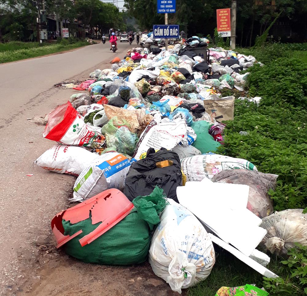 Tân Yên, Tái diễn,  rác thải tồn lưu, thị trấn Cao Thượng
