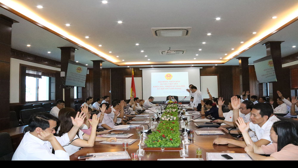 Thông qua Nghị quyết quy hoạch xây dựng vùng huyện Việt Yên đến năm 2035
