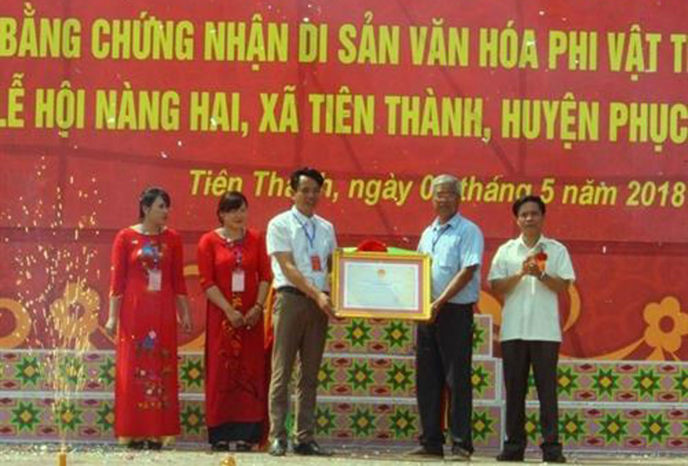 Cao Bang, Nang Hai festival, national intangible heritage, recognition certificate, two-day festival, photo exhibition,  traditional festival