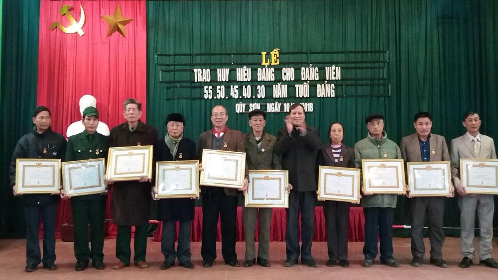 88 đảng viên được trao tặng Huy hiệu Đảng dịp 19-5