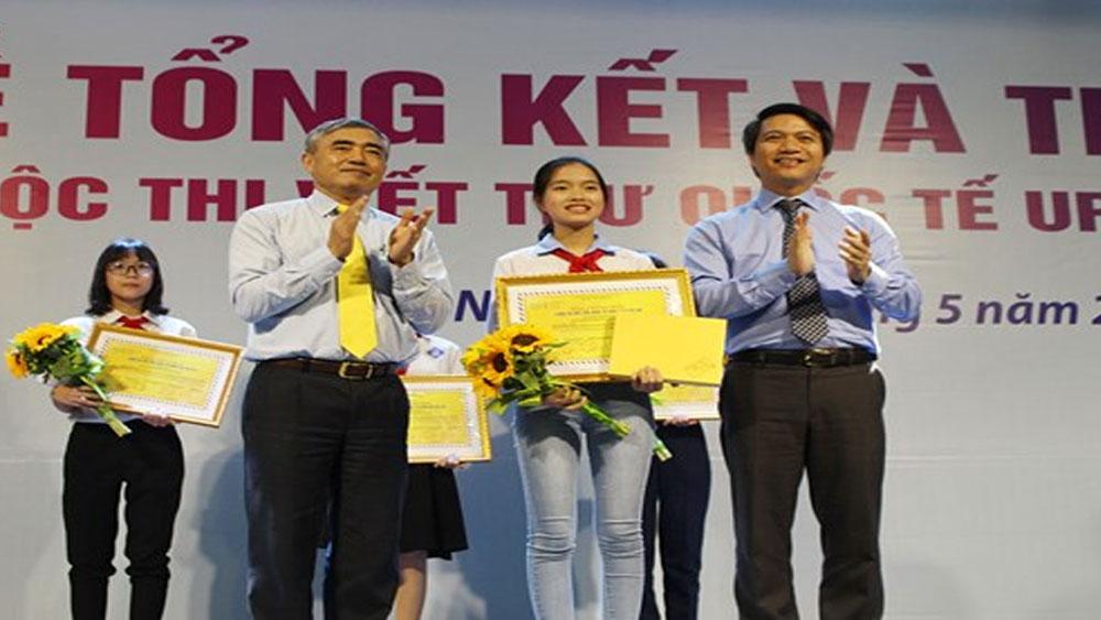 Thư viết về ông già Noel giành giải Nhất Cuộc thi viết thư quốc tế UPU lần 47