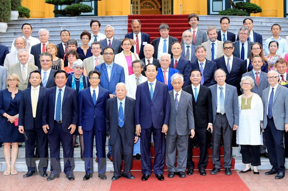 President Tran Dai Quang, Vietnamese, foreign scientists, Science for development, Meet Vietnam, founding anniversary, important contributions