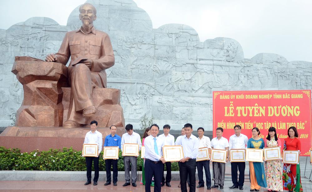 Đảng ủy Khối Doanh nghiệp, Tuyên dương,  30 điển hình,  học tập và làm theo Bác