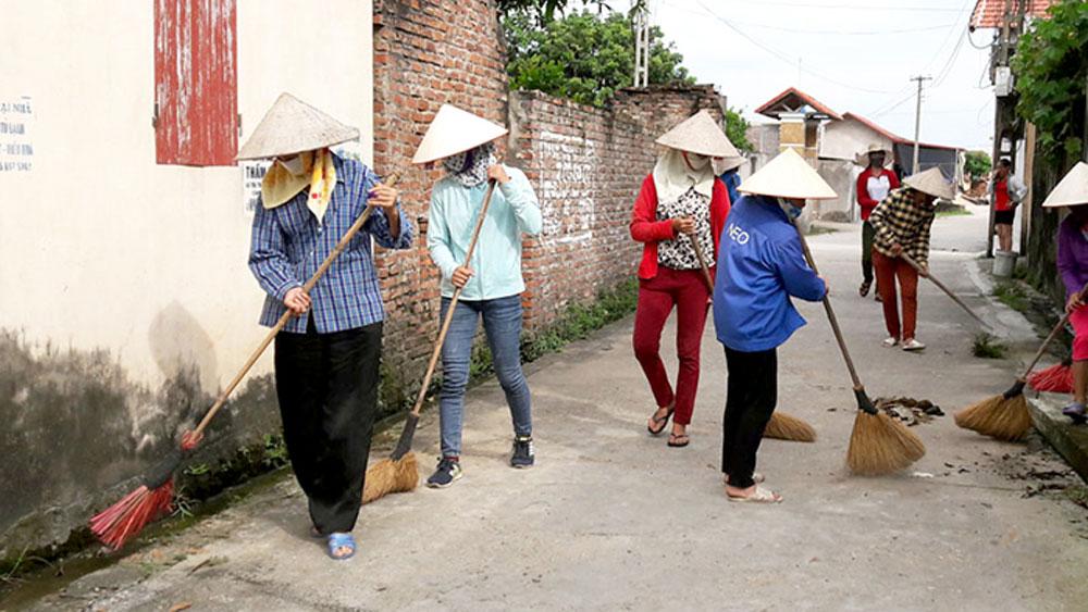 Yên Dũng, phụ nữ, ra quân, dọn dẹp môi trường