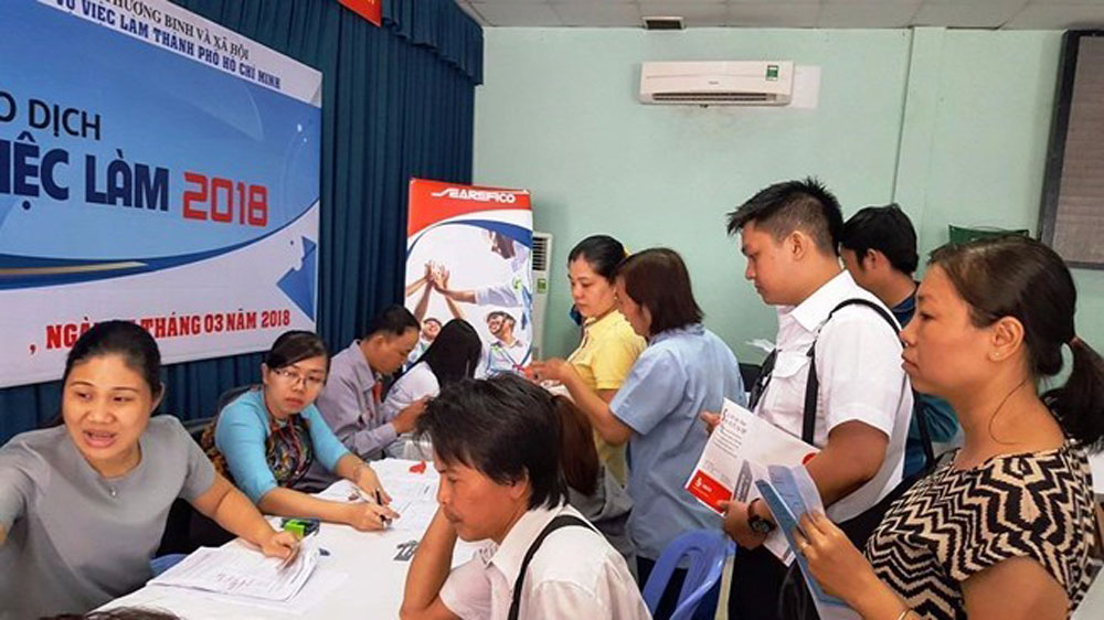 HCM City, May, Manpower Needs, Labour Market Information, garment-textile, footwear industry, vocational training courses,  manpower contracts