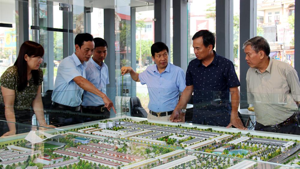 Thường trực HĐND tỉnh giám sát đầu tư xây dựng khu đô thị, khu dân cư mới tại Lạng Giang