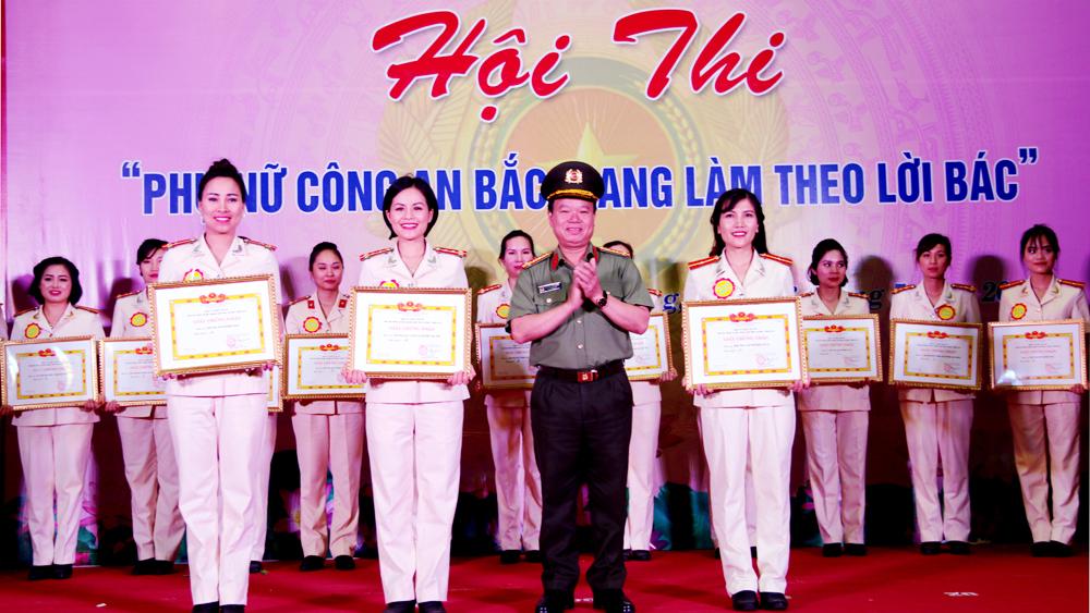 Hội thi Phụ nữ công an Bắc Giang làm theo Bác