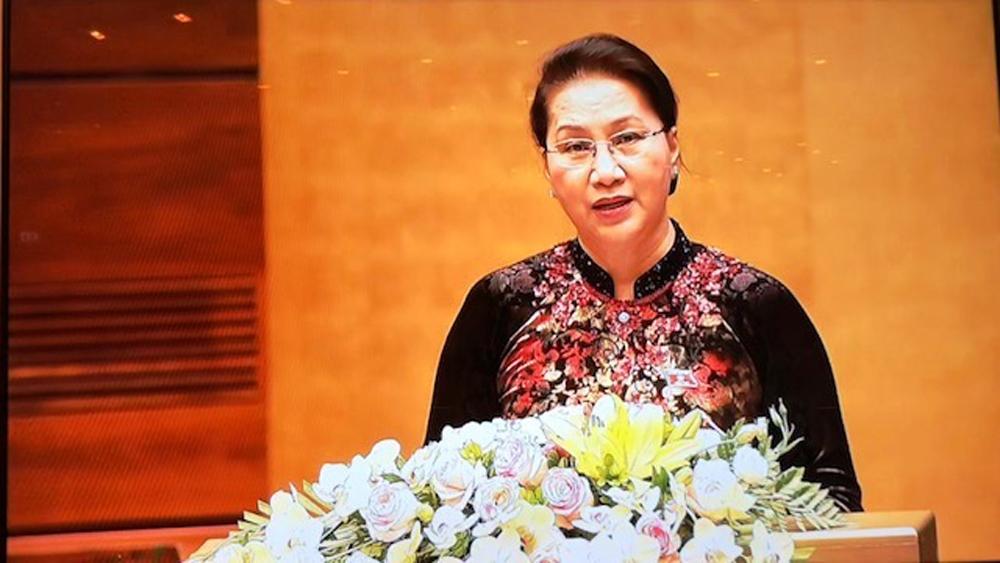 Chủ tịch Quốc hội Nguyễn Thị Kim Ngân phát biểu khai mạc.