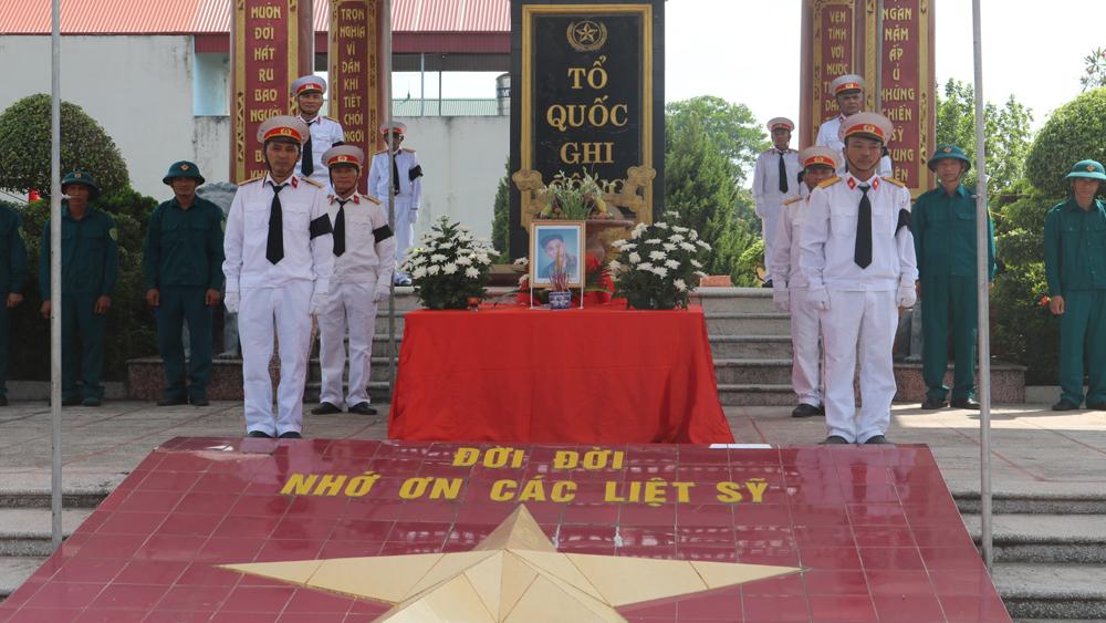 Tổ chức đón nhận hài cốt liệt sĩ hy sinh ở chiến trường Lào