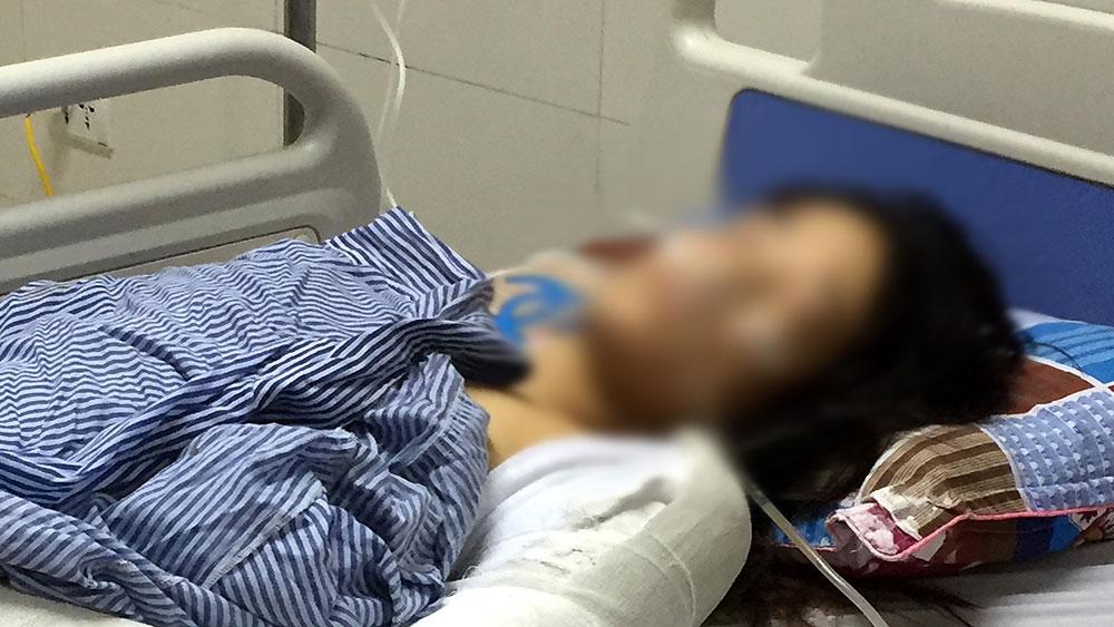thông tin, phụ nữ, đối tượng lạ, đâm trọng thương, tại nhà, Yên Thế, Bắc Giang