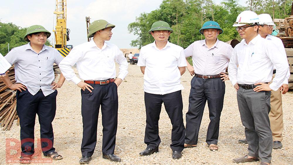 Construction progress of Belt road No.4 and Xuan Cam – Bac Phu bridge accelerated