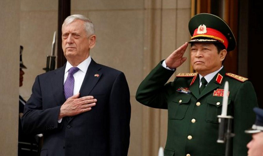 US, Secretary of Defence, cooperative ties, Vietnam, strong development, bilateral cooperation, cooperation programmes