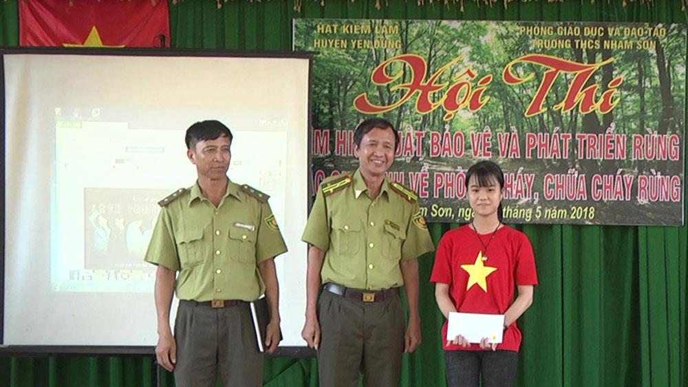 Yên Dũng, Trường THCS Nham Sơn, hội thi tìm hiểu, Luật bảo vệ rừng