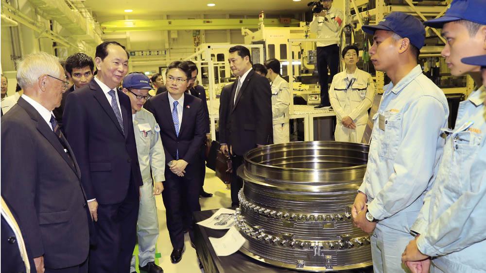 Chủ tịch nước Trần Đại Quang đi thăm tỉnh Gunma-Nhật Bản