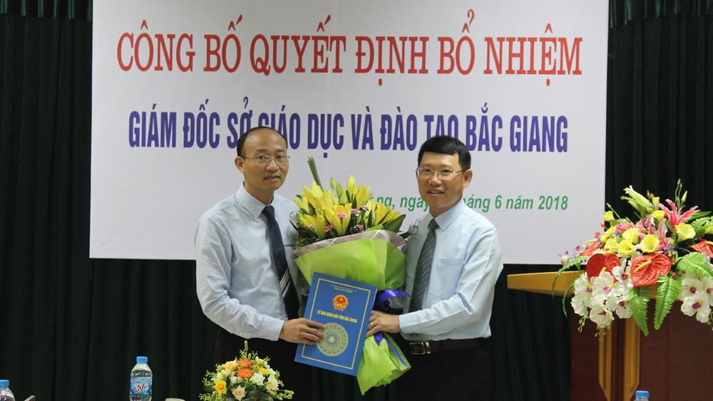 Bổ nhiệm Giám đốc Sở GD&ĐT Bắc Giang, ông Trần Tuấn Nam