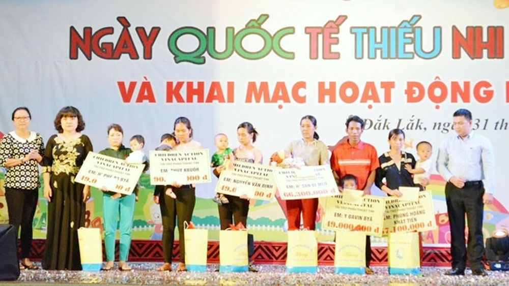 Practical activities held to care for children during Action Month for Children