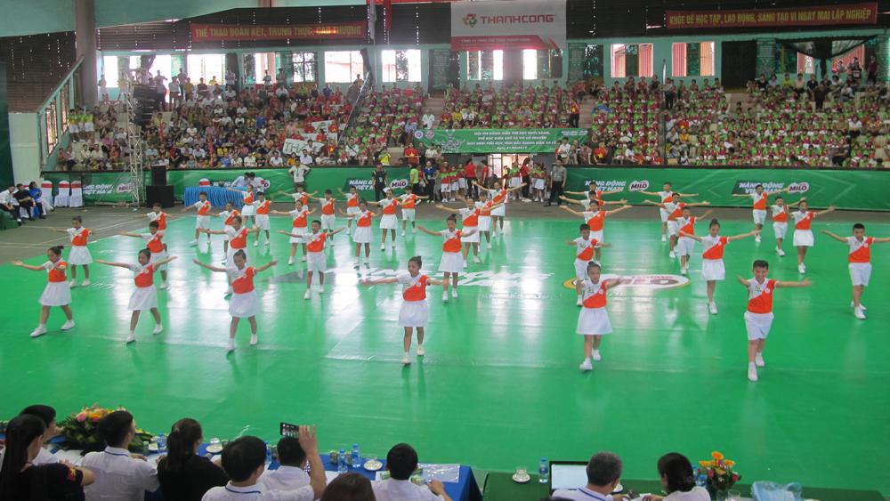 Lạng Giang đoạt giải Nhất hội thi đồng diễn thể dục buổi sáng, thể dục giữa giờ và võ cổ truyền