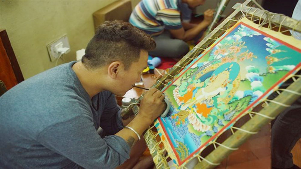Himalayan thangka art, Vietnam, artistic and religious values, traditional materials, Nepal traditional art, thangka paintings