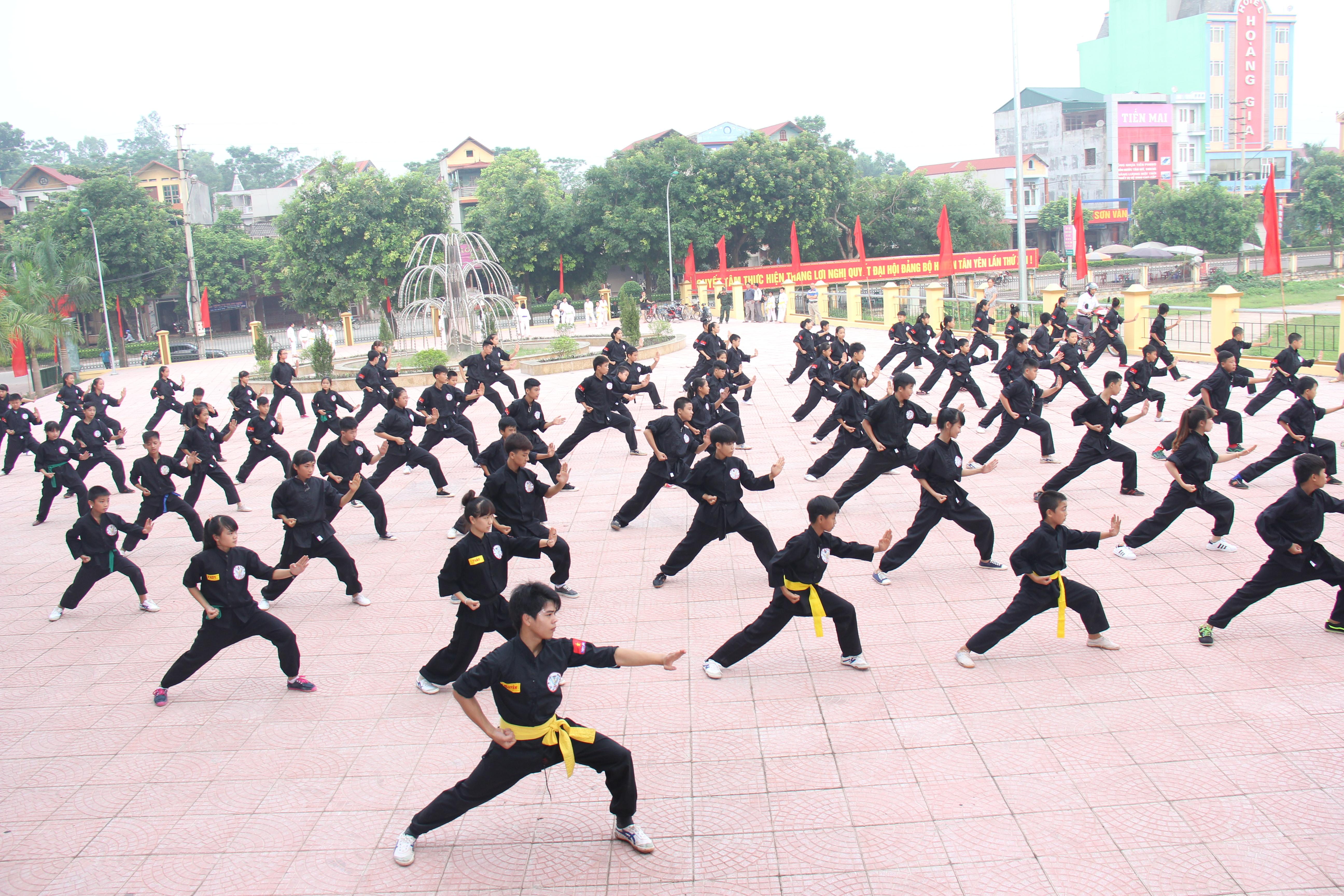 Võ thuật Tân Yên giữ vững ngôi đầu