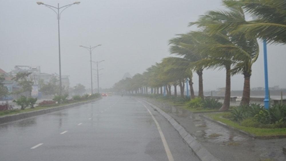 Áp thấp mạnh lên thành bão đang chạy dọc biển miền Trung