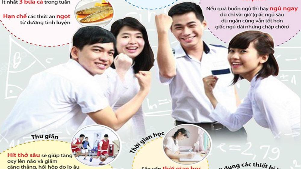 Chuẩn bị tâm lý, sức khỏe cho học sinh trong mùa thi